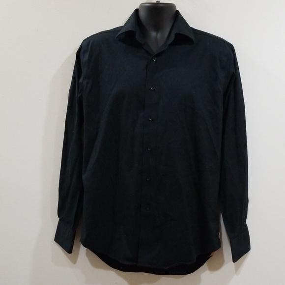 Lorenzo Uomo Other - Lorenzo uomo men's black button down dress shirt